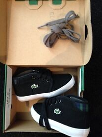 Lacoste trainer boots