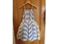 Blue and white Feather dress, size 8