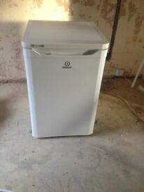 Larder Fridge - Indesit TLAA10 larder fridge. A+ energy rating, 55cm, White.
