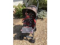 Mamas and Papas Tour lightweight pushchair with cherry dots