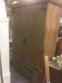 Huge solid wood wardrobe rrp £3000