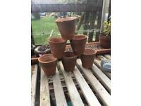 Victorian antique/vintage clay pots