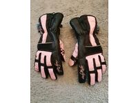 Frank Thomas Motorcycle/Moped Gloves Size Small Pink/Black