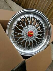 """19"""" BRAND NEW BBS RS STYLE ALLOY WHEELS 5X120 5X112"""
