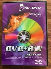 As new 25 Blank DVD+RW 4.7GB per Disc