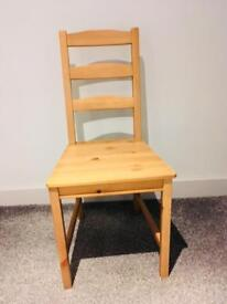 SOLD 4 free wooden chairs