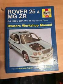 Rover 25 & mg zr Haynes manual