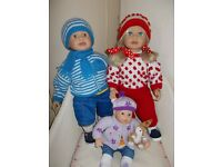 ZAPF TWIN DOLLS.63cm TALL