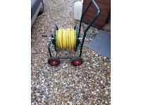 Jumbo garden hose reel