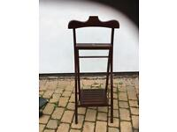 Wooden folding suit clothing stand