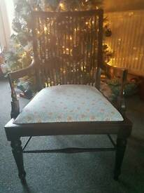 Shabby chic victoriana occasional chair by Rebecca Jayne