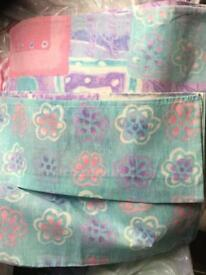 Bundle of single bedding for 2 beds plus curtains bargain bundle