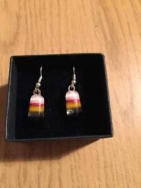Glass earrings *new*