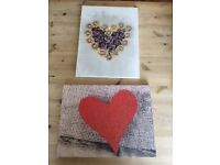 Heart canvas pictures
