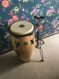 Brand new Latin percussion city series Conga drum and stand