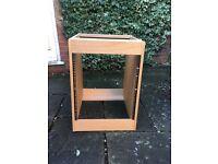 Studio Rack 12u - Real Wood Veneer Oak