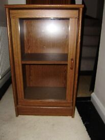 Display cabinet / unit, glass fronted, good condition