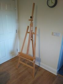 Artina Barcelona Easel 2250 mm High Solid Beech Wood 660 mm Wide A-Frame Easel for Artists