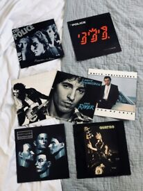 "Job Lot of 7 12"" Vinyl Records inc. Kraftwerk, The Police, Suzi Quatro, Bruce Springsteen"