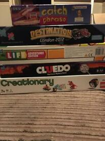 Board Games - Cluedo, Game of Life, Lego, Catchphrase and Destination London