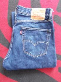 Men's levi's dark stonewash jeans 751s 34w x 30l