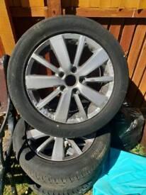 Volswagen golf wheels only got 3