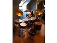 Full Premier Drum kit and cymbals