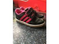Pink Adidas trainers size, children's 8