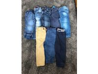 Boys bundle of jeans and trousers 12-18months