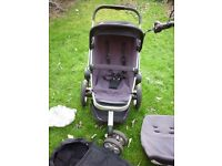 QUINNY SINGLE BUGGY INCLUDING RAIN COVER IN GREAT CONDITION RRP £450