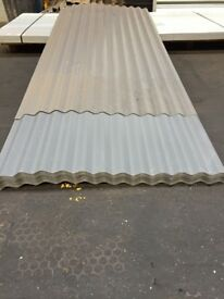 Corrugated steel roofing sheets, slate grey polyester, other colours available