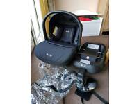 Silver Cross simplicity isofix base, car seat and rain cover