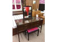 Dressing table with seat and mirror
