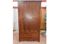 Sardinia Double Wardrobe (from Living Room); 200 cm x 104 x 59; 5 years old v. good condition.