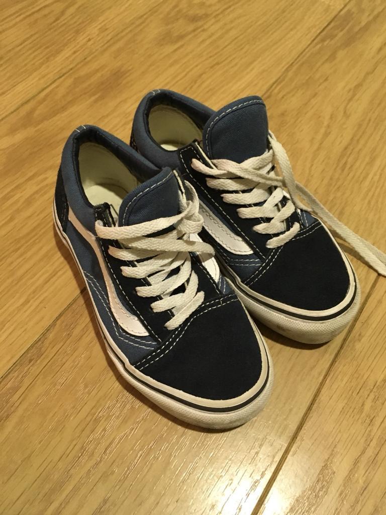 Boys genuine Vans trainers - infant size 11