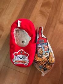 Paw patrol slippers & goodies!