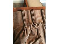 Caramel and Chocolate handmade lined curtains