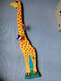 Wooden Giraffe Height Chart £5