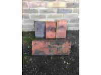 Clay peg tiles and some ridge tiles