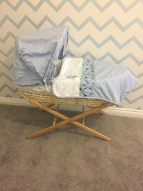 Mothercare Moses basket and stand