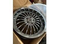 "Jaguar Range Rover Vw t5 BMW X5 20 "" Chrome alloy wheels"