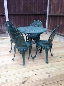 Iron table and 4 chairs
