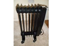 Elpine Oil-Filled Portable Radiator 1500w in Black