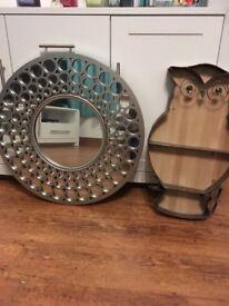 Wall mirror circles design