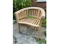 Two teak garden chairs - brand new