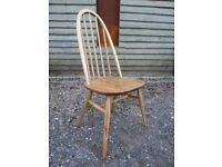 Fully Refurbished - Ercol Solid Elm/Beech Windsor/Quaker Dining Chair - Osmo Polyx Oil