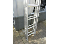 Clima aluminium double extending ladder sound - no damage or cracks etc had little use
