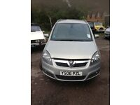 Vauxhall Zafira Design 16V 2006 Available for Spares or Repair £500.00.