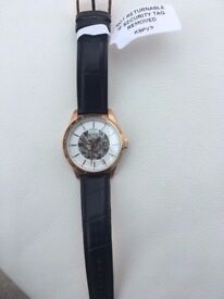 **100 % Orignal Brand new** Rotary Men's Mecanique Skeleton Automatic Watch Rose Gold RRP £299