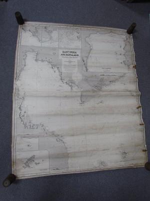 ANTIQUE 1878 EAST INDIA ARCHIPELAGO #3 NAUTICAL CHART MAP, ROUTE TO CHINA, IMRAY